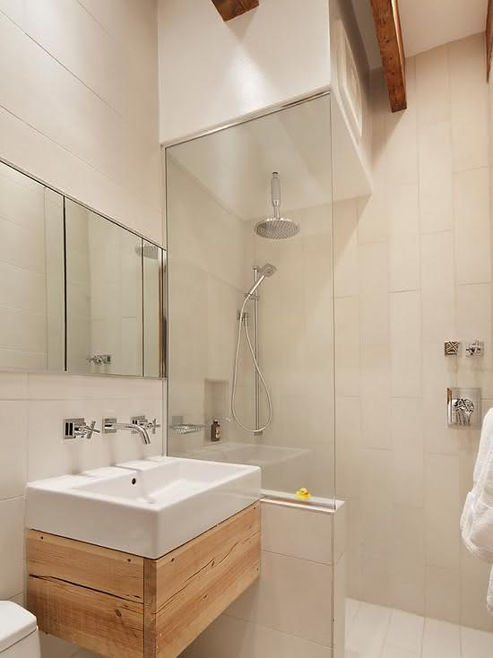 100 Banheiros Simples e Pequenos Inspiradores  Fotos -> Revestimento Para Banheiro Simples E Pequeno