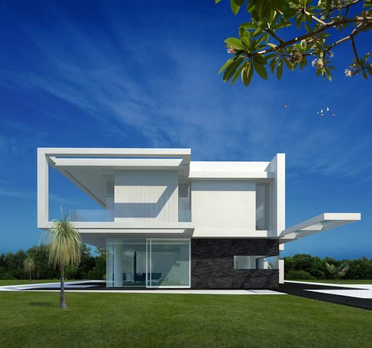 50 casas contempor neas inspiradoras para o seu projeto for Fachadas de casas contemporaneas modernas