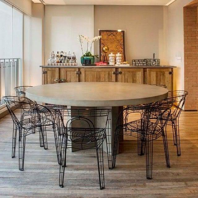 50 mesas redondas para sala de jantar inspiradoras - Mesas redondas pequenas ...
