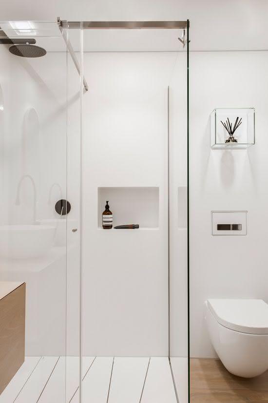 100 Banheiros Simples e Pequenos Inspiradores  Fotos -> Banheiro Clean Simples