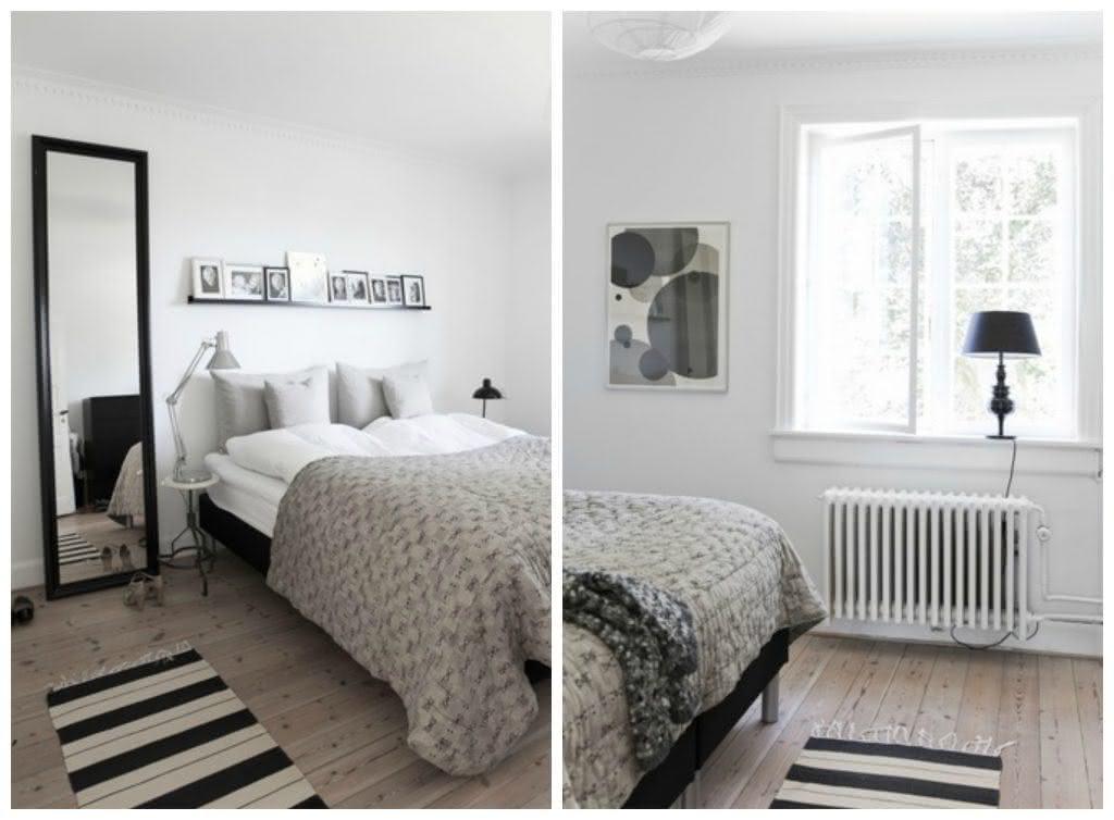 O estilo escandinavo é despojado e se encaixa para qualquer quarto de casal