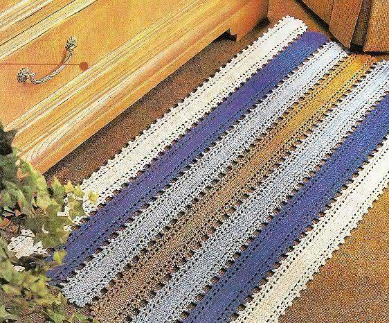 Faixas extensas deram forma a um lindo tapete retangular!