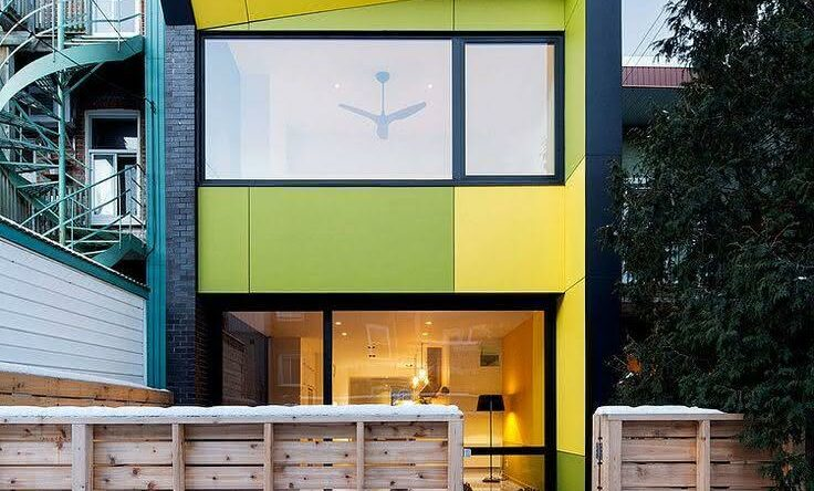 Casas pintadas e coloridas