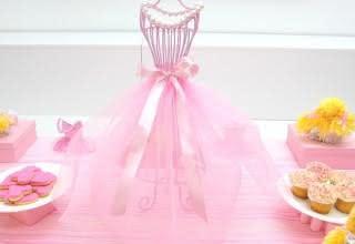 Resultado de imagem para decoração festa bailarina marrom e rosa