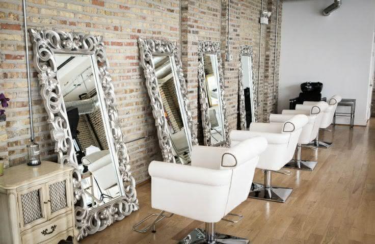 50 ideias de decora o de sal o de beleza com fotos - Ideas decorar salon moderno ...