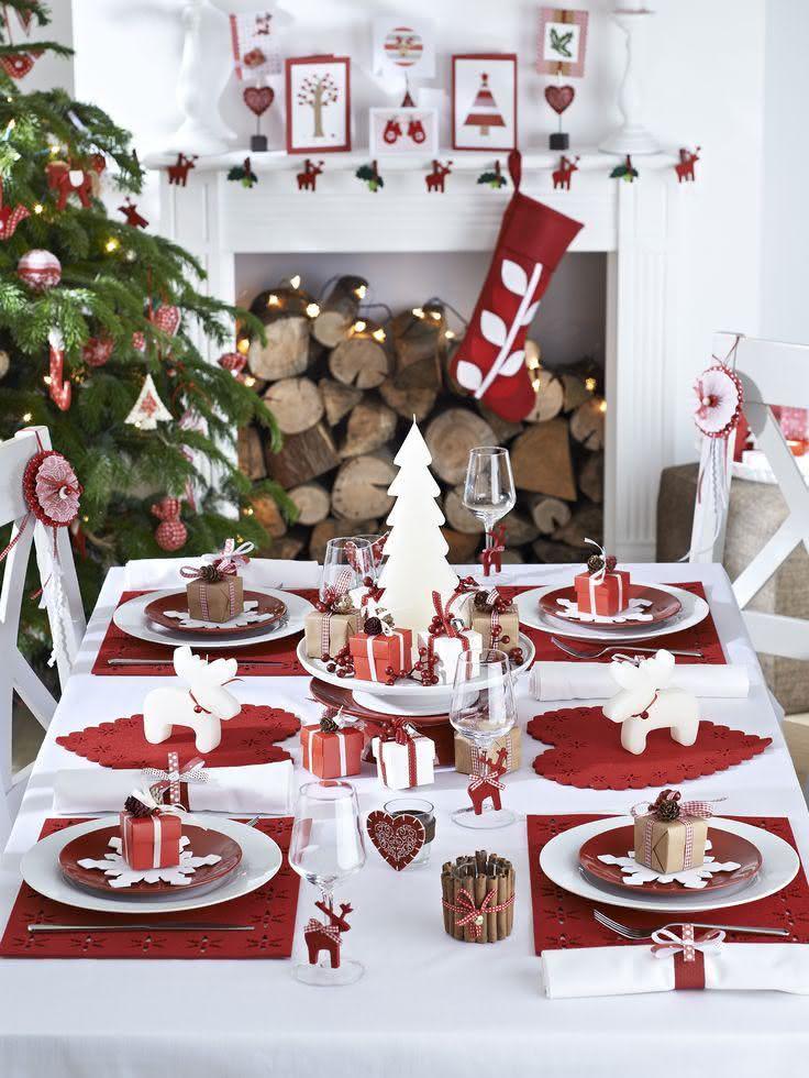 Mesa de Natal com estilo clean