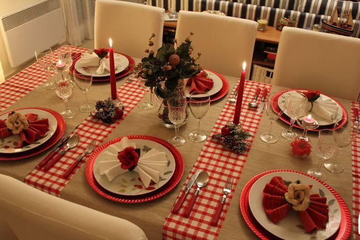 Resultado de imagem para mesas de natal