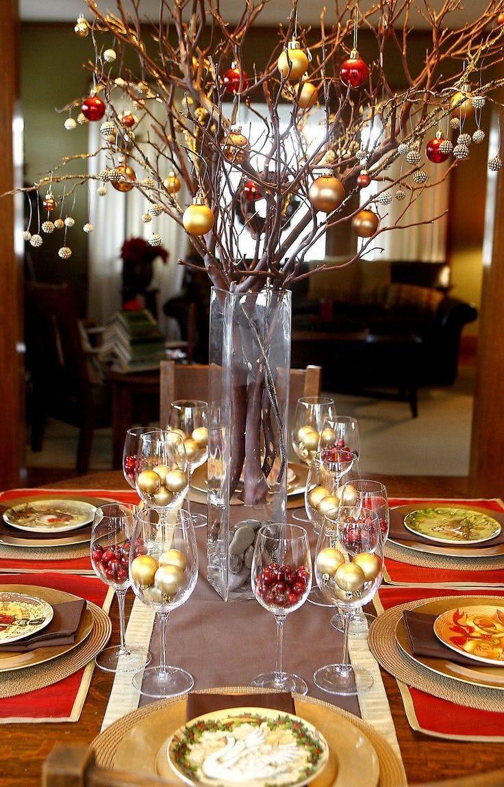 50 ideias para decora o de mesa de natal inspiradoras for Decoracion navidena artesanal