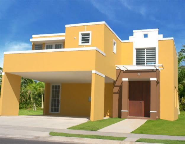 50 casas pintadas e coloridas para te inspirar for Casas modernas pintadas