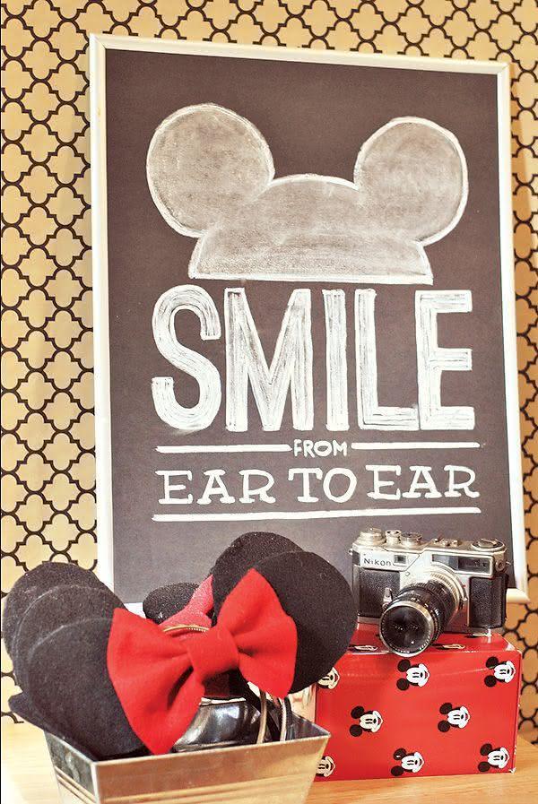 Photo booth para sorrir de orelha a orelha.