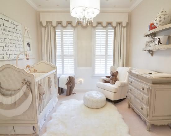 imagem cortina com estilo descolado para quarto de beb