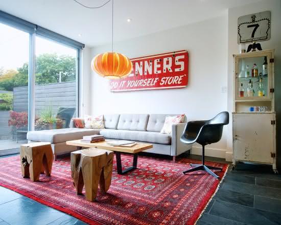 55 projetos de decora o vintage e retr inspiradores for Sala de estar estilo vintage