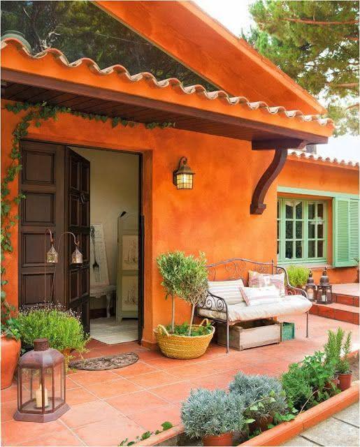 50 casas pintadas e coloridas para te inspirar for Colores para pintar una casa pequena