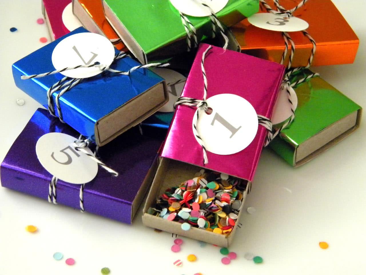 Confetes para a festa de Reveillon
