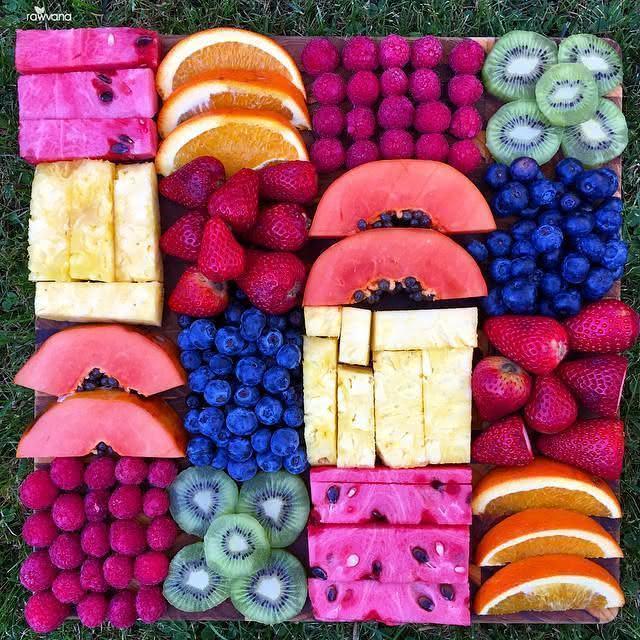 Organize as frutas de forma harmônica