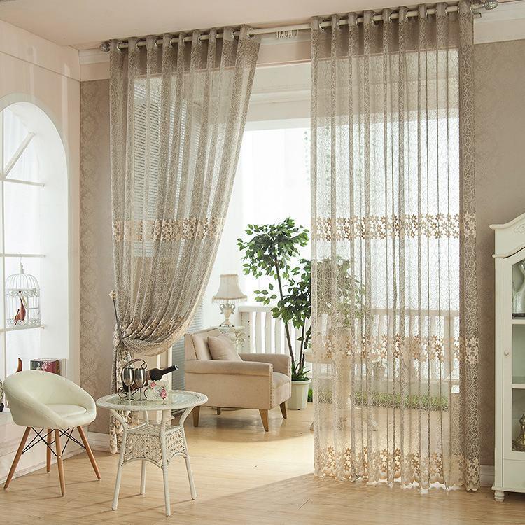 95 modelos de cortinas de croch e passo a passo for Cortinas para sala