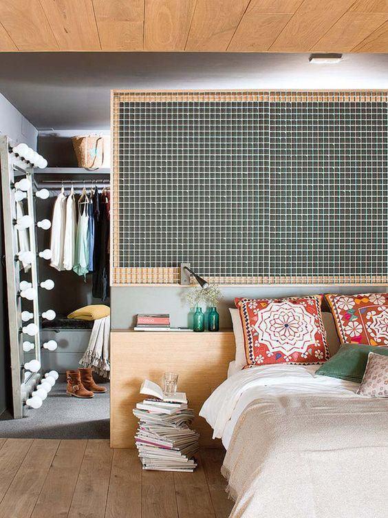 Coloque uma divisória para separar os espaços e seu uso.