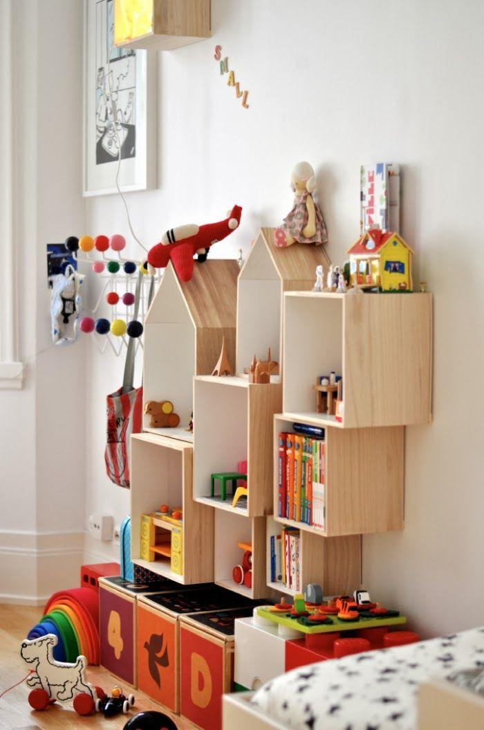 50 modelos de estantes para quartos inspiradoras - Estantes para pared ...