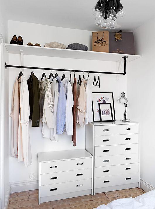 Menos é mais! Invista em um projeto de um closet com estilo minimalista.