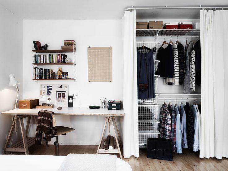Que tal um closet junto com um home Office?
