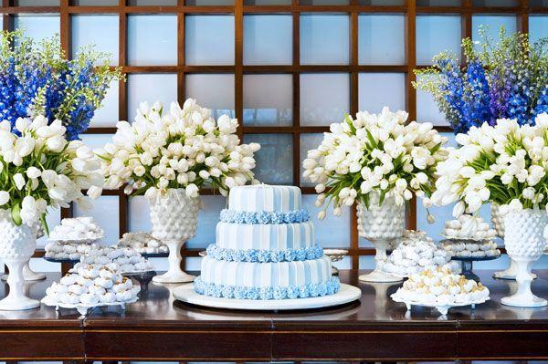 Casamento Azul bolos