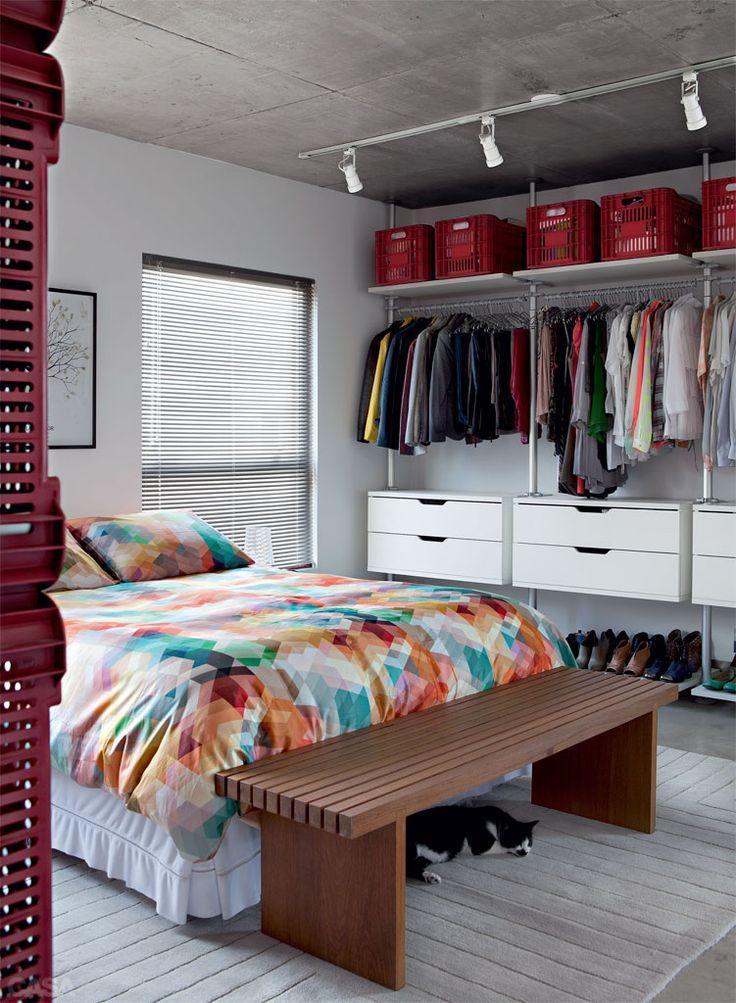 85 closets pequenos inspiradores solu es e ideias - Como decorar una habitacion rustica ...