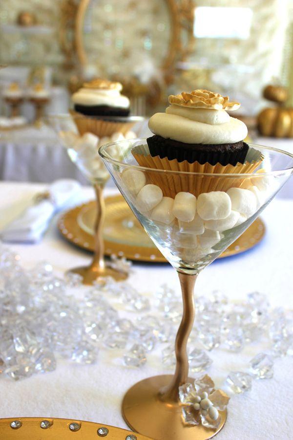 Taça de doce para festa de Reveillon