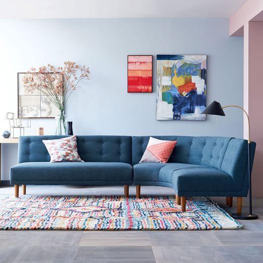 Nem todo sofá de canto precisa localizar na parede