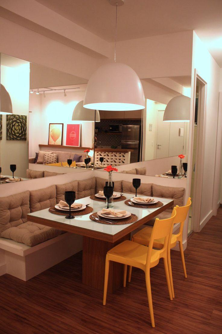 50 salas de jantar com espelhos lindas e inspiradoras for Decoracion casa 50m2