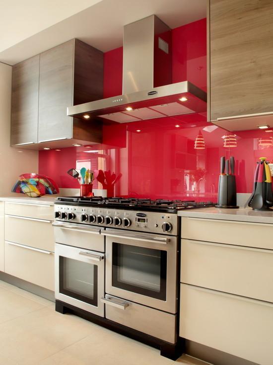 50 Cozinhas Vermelhas Belíssimas e Inspiradoras # Cozinha Planejada Pequena Com Vermelho
