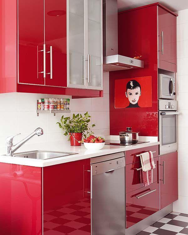 Uma cozinha pequena e com muito estilo
