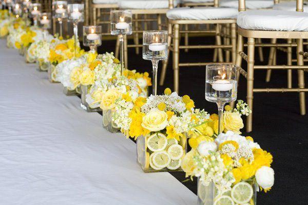 Matrimonio In Giallo E Bianco : Ideias de decoração casamento amarelo