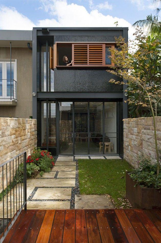 50 fachadas de casas estreitas inspiradoras for Casas reducidas