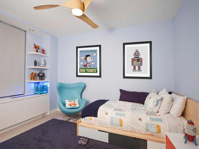 Um aquário na versão mini para um quarto de criança.
