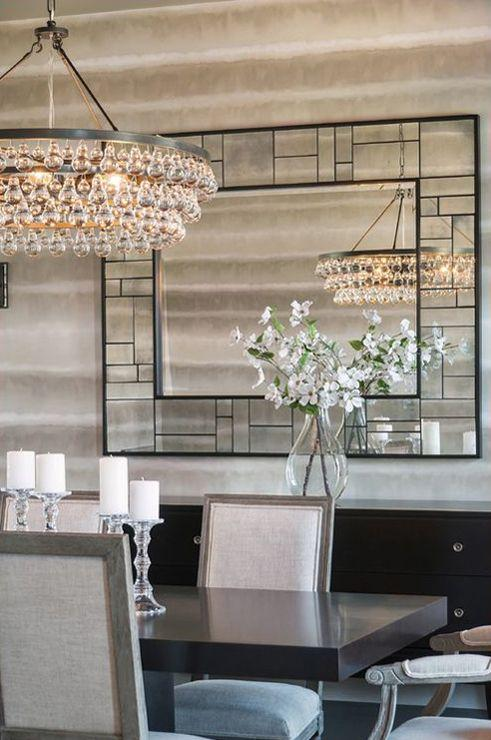 Espelhos Para Sala De Jantar Etna ~ Imagem 41 – Sala de jantar com recortes de espelhos