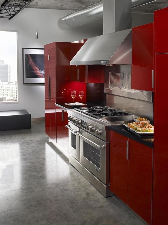 Uma decoração para uma cozinha com estilo industrial