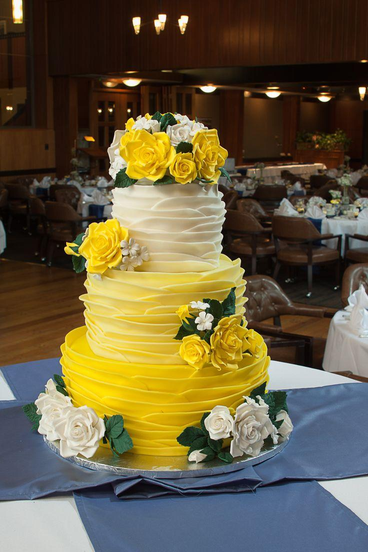 yellow and white wedding cake ideas 50 ideias de decora 231 227 o de casamento amarelo 27692