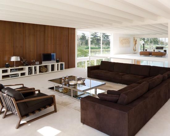 Sala De Tv Com Sofa Marrom ~ 51 Modelos de Sofás de Canto Lindos e Inspiradores