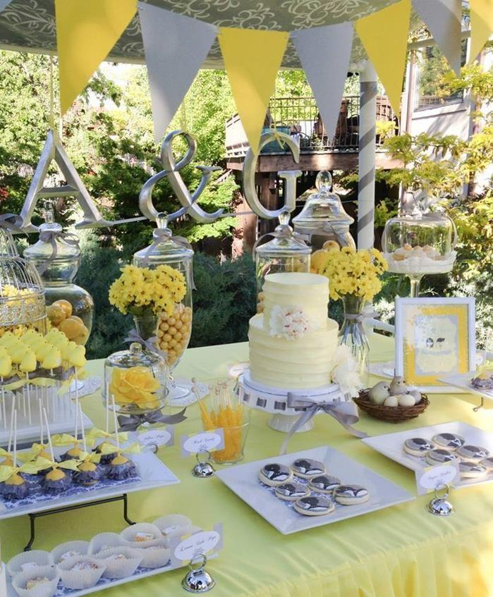 wedding ideas yellow and gray 50 ideias de decora 231 227 o de casamento amarelo 28367