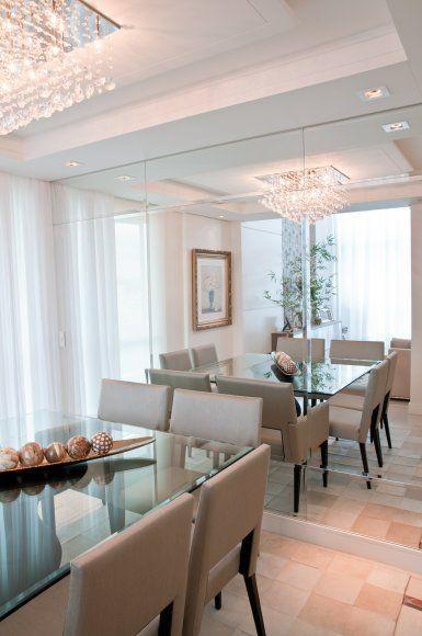 Banco Dois Lugares Sala De Jantar ~ 50 Salas de Jantar com Espelhos Lindas e Inspiradoras