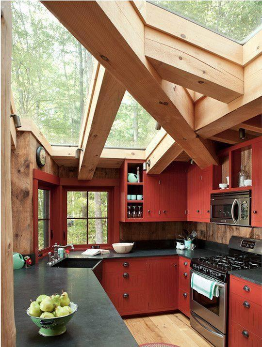 Essa cozinha é ideal para uma casa na fazenda
