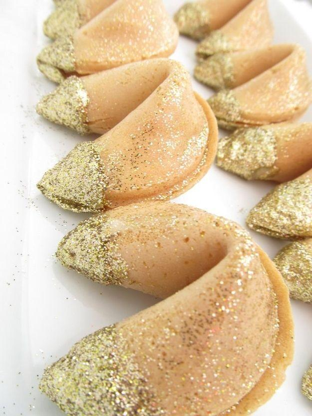 Biscoito da sorte decorado para festa de Reveillon