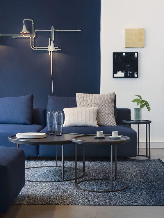 Crie um efeito dividindo as paredes com diferentes cores