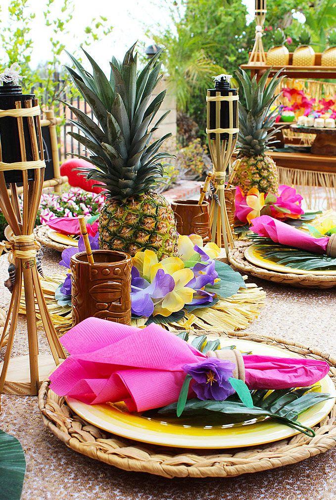 70 Ideias de Decoraç u00e3o para Festa Havaiana Incrível! -> Decoracao De Havaiana
