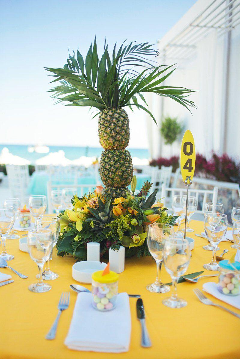 70 Ideias de Decoraç u00e3o para Festa Havaiana Incrível! -> Decoração De Festa Havaiana Simples