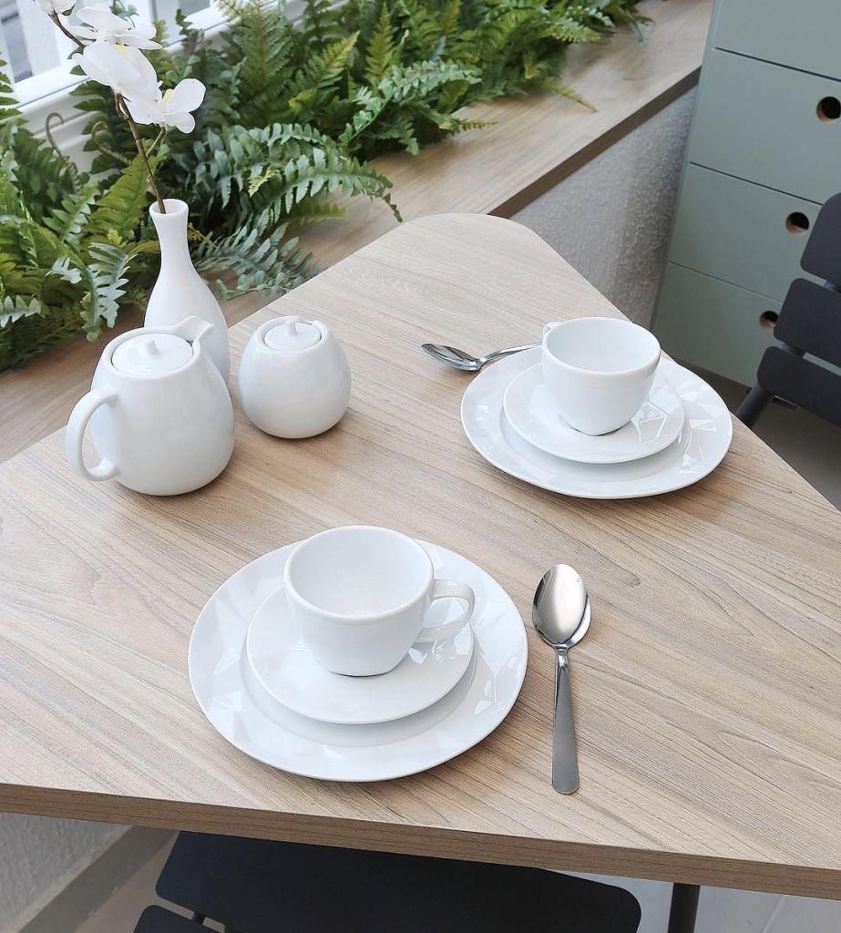 Diversifique no formato da mesa de jantar.