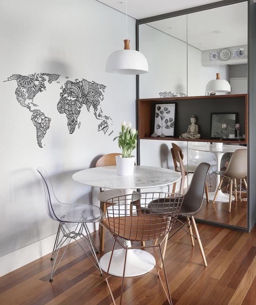 Adesivos De Parede Onde Comprar Rj ~ 70 Salas de Jantar Pequenas Lindas e Inspiradoras