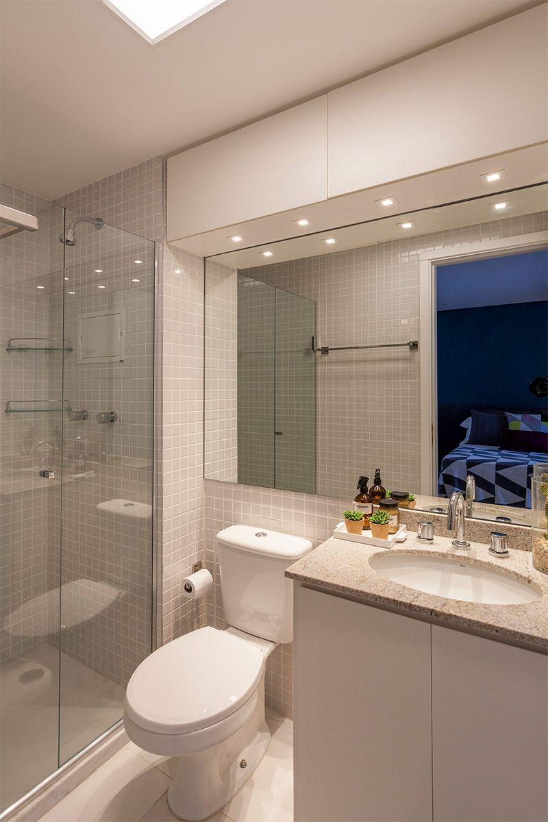 50 banheiros decorados com pastilhas melhores fotos for Imagenes de pisos decorados