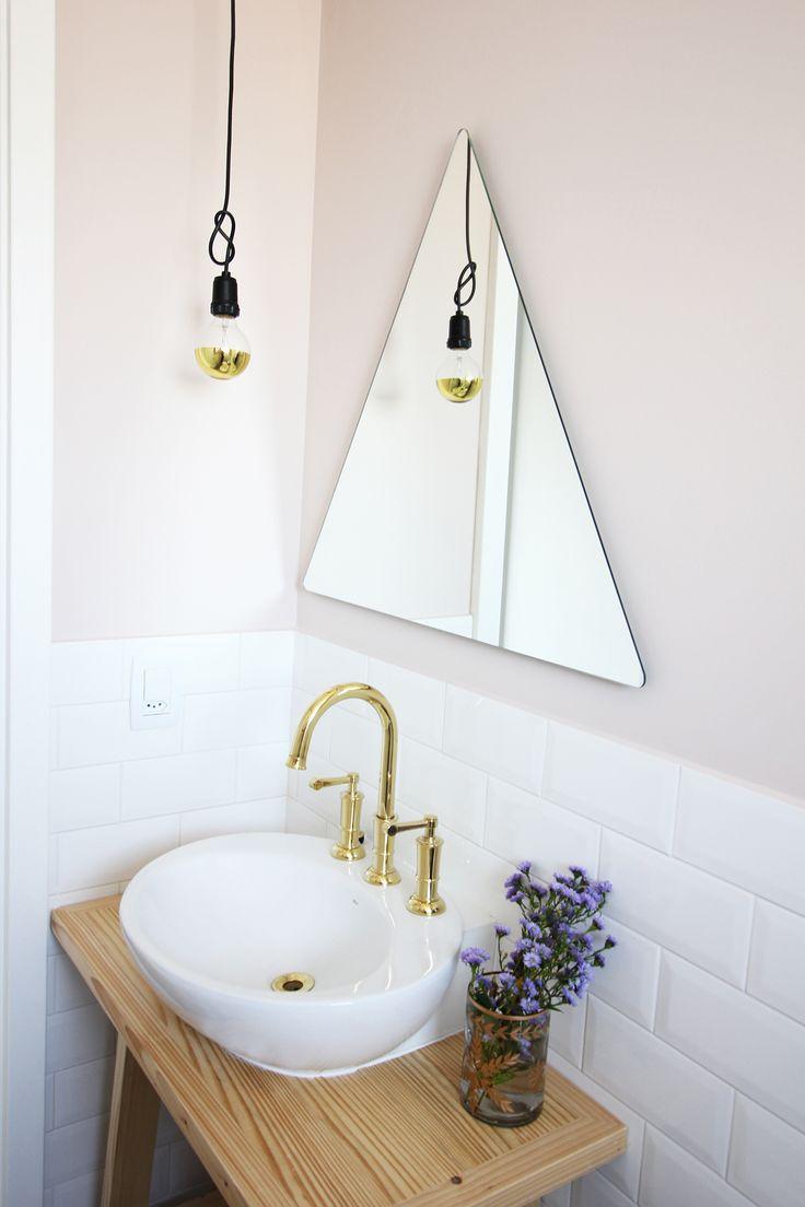Tamanho De Espelho Banheiro : Espelhos para banheiros lindos e inspiradores
