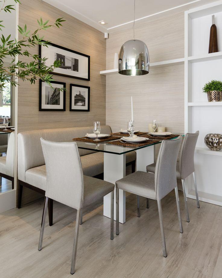 decoração de sala de jantar branco